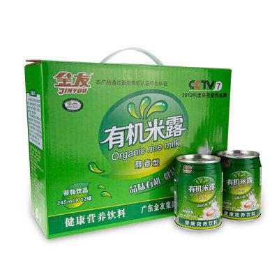 南雄特产 金友有机醇香米露礼盒装12罐
