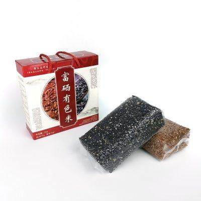 丰顺馆 富硒有色米(红米+紫米)2千克/盒