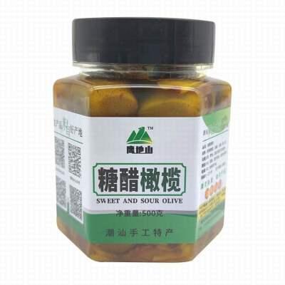 潮州手工糖醋橄榄500G一罐 早餐配粥解馋小零食