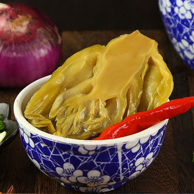 包邮广东贵族酸菜500g厂家直销无防腐剂零亚硝酸盐开胃健康小吃