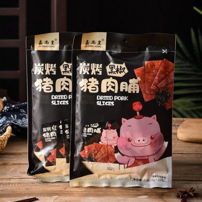 猪肉片铺干肉类零食黑椒猪肉脯