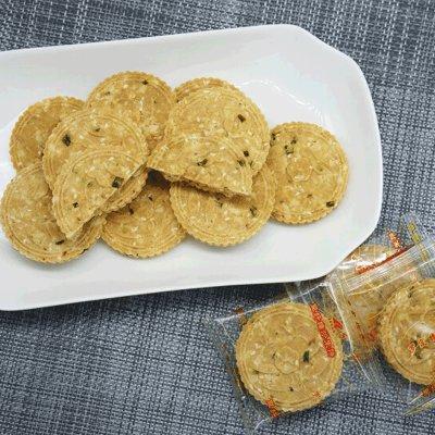 长岗坡食品 纯手工制作芝麻花生豆纤维炒米饼500g罐装